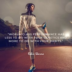 World-class performance has less to do with your genetics and more to do with your habits. Robin Sharma Quotes, Best Quotes, Life Quotes, Good Thoughts Quotes, Remember Why You Started, Motivational Quotes, Inspirational Quotes, Now And Forever, Embedded Image Permalink