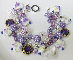 Purple Rain Charm Bracelet