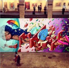 """by Seth GlobePainter - """"Les Nouveaux Explorateurs"""" for Art Rua - Rio de Janeiro, Brazil - Sept 2014"""