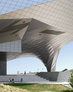 Another in the running for the Buildings in Use category is this image of Coop Himmelb(l)au's angular Musee de Confluences in Lyon taken by Fabrice Fouillet.