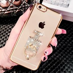 iPhone 6 Case, iAnko Glitter Cute Soft Mirror TPU Slim Fit Back Phone Case 360 Degree Rotating Ring Stand Cover for iPhone 6 6S 4.7 Inch (Gold, Perfume). iPhone 6 Case, iAnko Glitter Cute Diamond Mirror TPU Soft Slim Back Phone Case 360 Degree Rotating Ring Stand Cover for iPhone 6 6S 4.7 Inch iAnko Design: Specification: 1. Manufactured to fit the real mold of iPhone 6 (2014) & iPhone 6s (2015) 4.7 inch. 2. Diamond Case: Show the elegance and style. 3. Soft TPU: Provides a comfortable...