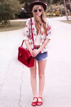 flower jacket red