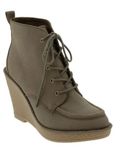 Old Navy Lace-Up Wedge Boots,   $36; oldnavy.com
