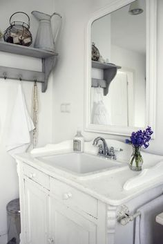 I like the towel rack on the side of the vanity. Always close to the shower and off the wall...