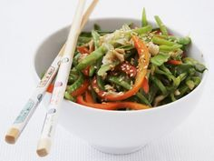 Wokgemüse mit Brechbohnen