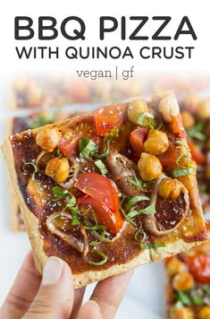 Mar 2020 - A healthy spin on a classic recipe, this vegan BBQ pizza is super easy to make and packed with nutritious ingredients. Made on our quinoa pizza crust too! Pizza Recipe Mozzarella, Bbq Pizza Recipe, Potato Pizza Recipe, Vegetarian Pizza Recipe, Pizza Recipes, Clean Eating Recipes, Clean Eating Snacks, Pizza Recipe Pillsbury, Pizza Recipe Without Oven