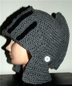 This crochet hat is so much fun! Men's Knight Helmet Hat - Media - Crochet Me
