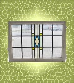 Antique Stained Glass Window 6 color Craftsman Style