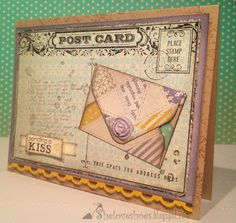 Sending a Kiss… Envelope Punch Board, Clay moulds, Stampin' Up!, Post Card Background stamp, Labels Thinlits card die
