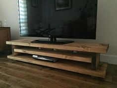 Rustic TV Caninet, Chunky, Hand made, Solid, Oak finished Pine, Country style, FREE POSTAGE in England (mk1)