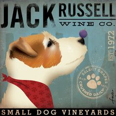 Jack Rusell Wine Company...doesn't seem legit- as the 'Mistletoe Company' uses the same sign...