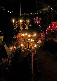 a well lit halloween display halloween outdoor decor pinterest halloween displays halloween fun and hallows eve - Outdoor Halloween Party