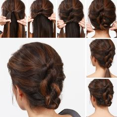 This week's adorable Knotty Updo Hair Tutorial is so simple to execute and perfect for day or night. Find the tutorial on the LuLu*s blog!