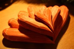 red wooden hearts Wooden Hearts, Red, Crafts, Collection, Manualidades, Handmade Crafts, Craft, Arts And Crafts, Artesanato