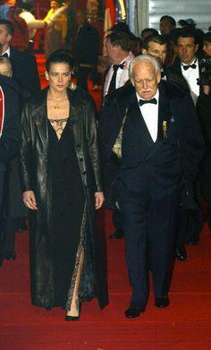 Stéphanie de Monaco with Prince Rainier...