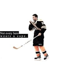 patrice bergeron. not every hero wears a cape