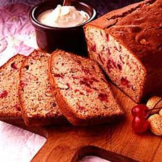 Cherry/Almond Quick Bread Recipe Egg replacer, almond milk, df butter