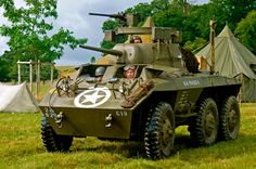 The M8 Greyhound armoured car was also built by Ford for use during World War II, remaining in service long after.