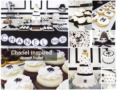 Coco Chanel inspired shower by Oh, Sugar!  Events     theme:  coco chanel  colors:  black and white  occasion:  bridal or baby shower    pinned by www.sweeteventdesign.com