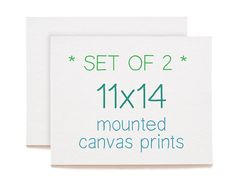 SET OF 2  11x14 Mounted Canvas Prints  Any 2 by heathercashart