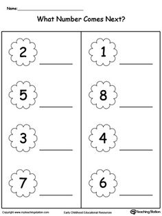 Before and After Numbers 0 Through 15 Part 2 | Position, Direction ...