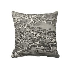 Vintage Pictorial Map of Sandwich MA (1884) Throw Pillow from Zazzle.com $62.40