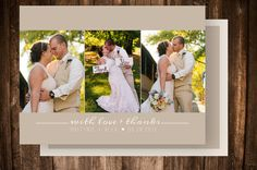 Simple Photo Wedding Thank you Card, wedding Thank yous by CatherinesPaperie, $15.00