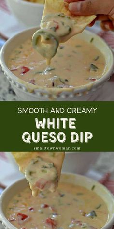 Make snacking more fun with this homemade White Queso Dip! This authentic Mexican dip recipe is a smooth and creamy perfect with fresh tortilla chips, burrito, or over steamed broccoli. It is a quick and easy appetizer that everyone would surely love! Make this for your parties!