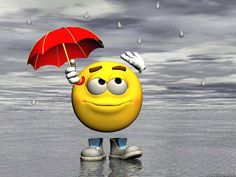 SMILEY IN THE RAIN - mr, smiley, drops, rain