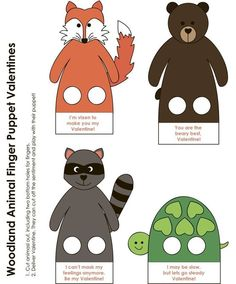 Woodland Animals Theme, Crafts For 2 Year Olds, Happy Crafters, Puppets For Kids, Christmas Worksheets, Felt Finger Puppets, Free Preschool, Borders For Paper, Classroom Crafts
