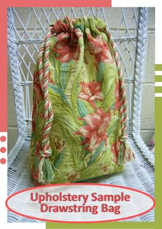 Simply Shoe Boxes: Simple Drawstring Bag ~ From Upholstery Sample