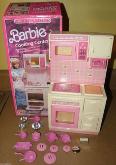 (161) Barbie Sweet Roses Cooking Center | Barbie | Pinterest