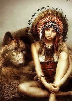 Native Americans Native American Drawing, Native American Paintings, Native American Pictures, Native American Women, American Indians, Indian Wolf, Wolf Hat, Wolves And Women, Indian Heritage