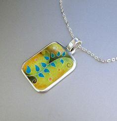 Cloisonne enamel pendant by agoraart on Etsy, $110.00
