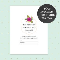 Wedding Planner Printable PDF