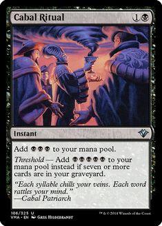 4x CABAL RITUAL x4 Torment instant black M//NM MTG Magic the Gathering