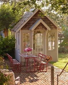 Shed DIY - Quaint potting house /garden shed Now You Can Build ANY Shed In A Weekend Even If You've Zero Woodworking Experience! Backyard Storage Sheds, Storage Shed Plans, Diy Storage, Outdoor Storage, Storage Ideas, Backyard Cabin, Backyard Sheds, Backyard Retreat, Smart Storage