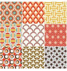 Seamless retro pattern vector - by paul_june on VectorStock®