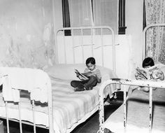 1948-Comics in bed.  The boy is reading Felix the Cat #4
