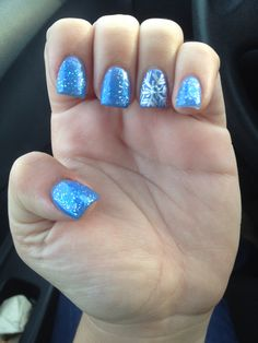 Frozen nails. Cool!