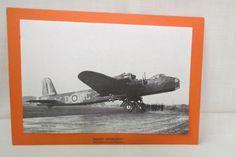 Vintage WWII Plane Short Stirling British Royal Air Force Bomber English Picture and Statistics Paper Card by KansasKardsStudio on Etsy