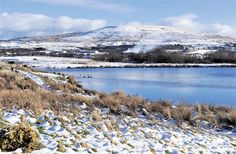 @South Wales Argus PIC OF THE DAY: Snow on the lakeside by Warwick Road, Brynmawr Pic: BECKY MATHEWS
