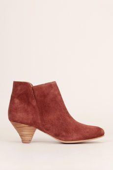Sessun -  - Bottines à talons cuir suède marron You Boots