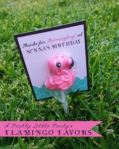 12 FLAMINGO  Favors  FLAMINGO Party  Fully by aprettylittleparty, $18.00