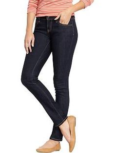 Womens The Flirt Skinny Jeans | Old Navy -- Got these guys tonight. Damn they look good on me! I would love this fit in a pant that I can wear to work.