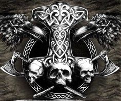 - Tattoo Trends – Badass Mjolnir unique Tattoo Trends – Badass Mjolnir This image has get 17 rep - Simbols Tattoo, Norse Tattoo, Celtic Tattoos, Tattoo Drawings, Body Art Tattoos, Sleeve Tattoos, Viking Art, Viking Symbols, Thor Hammer Tattoo