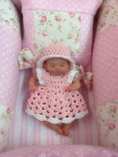"""Ooak Polymer Clay Doll Clothes For 3.5"""""""