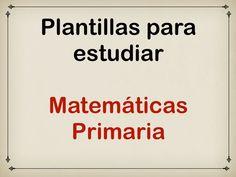 Plantillas para estudiar #matemáticas #primaria en #tinytap
