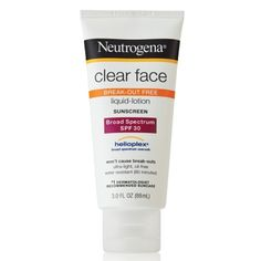I'm learning all about Neutrogena Clear Face Break-Out Free Liquid-Lotion Sunblock at @Influenster!