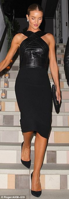 Luxe up your look in a leather top like Rosie's #DailyMail  Click 'Visit' to buy now